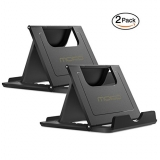 [2 Pack] MoKo Cellphone / Tablet Stand, Universal Foldable Multi-angle Desktop Holder for iPhone 8/8 Plus/7/7 Plus, iPhone X, Galaxy Note 8, iPad 10.5, Nintendo Switch