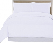 3 Piece Duvet Cover Set (King, White) Duvet Cover plus 2 Pillow Shams, Luxury Soft Hotel Quality Wrinkle, Fade and Stain Resistant- by Utopia Bedding