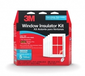 3M Indoor Window Insulator Kit, Five Pack (3′ X 5′)