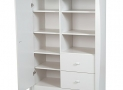 South Shore Furniture Beehive Armoire with Drawers, Pure White