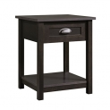 Sauder County Line Night Stand with Estate Black Finish