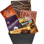 All About the Basket A Sweet Gift Basket of Gourmet Treats and Snacks Perfection, 4 lb