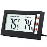AMIR Indoor Digital Hygrometer Thermometer, Humidity Monitor with Temperature Gauge Humidity Meter, Big LCD Screen