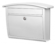 Architectural Mailboxes Dal Rae Locking Wall Mount Mailbox, White