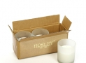 Aromatherapy Hosley® Set of 3 Large Frosted Glass Filled Candles 3″H, UNSCENTED 4 OZ Each,upto 72 HOUR BURN TIME EACH