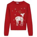 Arshiner Christmas Cute Deer Sweater Girls Knitted Sweatshirts Pullover