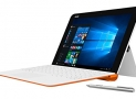 Asus T102HA-C4-WH Transformer Book 10.1″ 2 in 1 Touchscreen Laptop, Intel Quad-Core, White/Orange, Pen and Keyboard