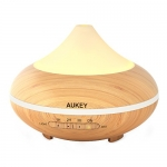 AUKEY Essential Oil Diffuser, 200ml Cool Mist Aromatherapy Humidifier Aroma Diffuser with Color Changing Lights and Auto Shut-off Function for Office, Home, Nursery (Light Brown)