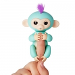 Authentic WowWee Fingerlings – Interactive Baby Monkey – Zoe (Turquoise with Purple Hair) By WowWee