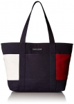 Tommy Hilfiger Flag Canvas Tote Bag for Women Tote Bag, TOMMY NAVY, One Size