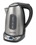 BLACK+DECKER KE1020SC 1.7-Liter Auto-Off 360-Degree Cordless Electric Kettle with Digital Controls, Silver