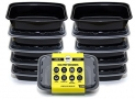 Bolt Goods LARGE XL Reusable Food Storage Containers with Lids (10 Pack – 38 Ounce)