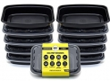 Bolt Goods Reusable Food Containers with Lids (10 Pack – 28 Ounce) Meal Prep Stackable