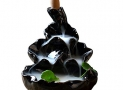 Ceramic Glaze Incense Smoke Cone Burner Backflow Censer Tower Holder