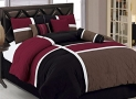 Chezmoi Collection 7-Piece Quilted Patchwork Comforter Set, Queen