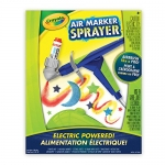 Crayola Air Marker Sprayer Set, Marker Art Tool, Turn Markers Into Spray Art,Airbrush Stencil Kit, 5 Pip Squeaks Washable Markers, Paper