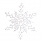Darice 6-Piece Snowflake Ornament, 6.5-Inch, Pearlized