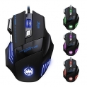 DLAND ZELOTES Professional LED Optical 7200 DPI 7 Button USB Wired Gaming Mouse