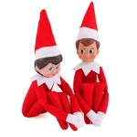Elf on The Shelf Plush Dolls, One Set (Boy and Girl)