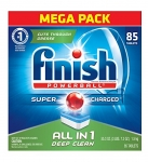 Finish Dishwasher Detergent Soap, All in 1 Powerball, Fresh, 90 Tablets