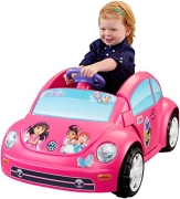 Fisher-Price Power Wheels Nickelodeon Dora and Friends Volkswagen New Beetle