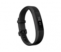 Fitbit Alta HR Monitor, Black Gunmetal, Large