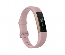 Fitbit Alta HR Monitor, Pink Rose Gold, Large