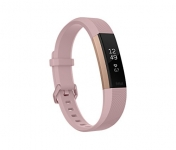 Fitbit Alta HR Monitor, Pink Rose Gold, Small