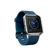 Fitbit Blaze Fitness Watch, Silver Small, Blue