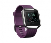 Fitbit Blaze Smart Fitness Watch, Plum, Silver, Small