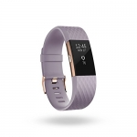 Fitbit Charge 2, Heart Rate + Fitness Wristband, Special Edition, Lavender, Rose Gold Small
