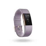 Fitbit Charge 2, Heart Rate + Fitness Wristband, Special Edition, Lavender, Rose Gold Large