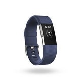 Fitbit Charge 2 Heart Rate Plus Fitness Wristband, Blue, Small