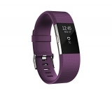 Fitbit Charge 2 Heart Rate Plus Fitness Wristband, Plum, Large
