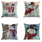 Flyou 4pcs Happy Christmas Pillow Cover