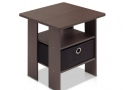 Furinno 11157 End Table Bedroom Night Stand with Bin Drawer