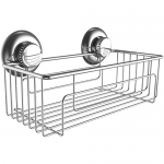 Gecko-Loc Shampoo Conditioner Holder Shower Caddy Stainless Steel