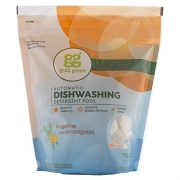 Grab Green Automatic Dishwashing Detergent Pods, 60 Load Biggie Pouch, Tangerine with Lemongrass