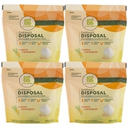 Grab Green Garbage Disposal Freshener and Cleaner Kit, Tangerine with Lemongrass
