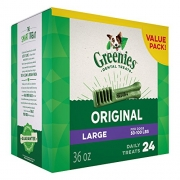 Greenies Dental Dog Treats, Large Size, Original Flavor, 36 Ounces, 24 Treats