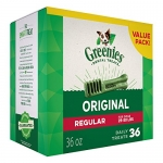 Greenies Dental Dog Treats, Regular Size, Original Flavor, 36 Ounces, 36 Treats