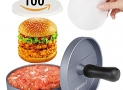 Non-stick Hamburger Press with 100 Wax Discs, Ideal for BBQ