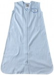 HALO SleepSack 100-Percent Cotton Wearable Blanket Large Light Blue