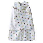 Halo Innovations SleepSack Swaddle Micro-Fleece Multi-Color Dot, White, Multi, Newborn