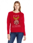 Hanes Womens Ugly Christmas Sweatshirt – Pugs/Kisses