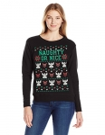 Hanes Womens Ugly Christmas Sweatshirt – Naughty Or Nice