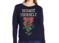 Hanes Navy Behave Yourself Ugly Christmas Sweater