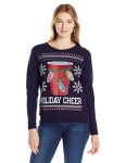 Hanes Womens Ugly Christmas Sweatshirt – Navy Holiday Cheer