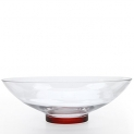 Hosley's Clear Glass Bowl with Red Bottom, 11.8″ Diameter