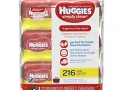 HUGGIES Simply Clean Fragrance-free Baby Wipes, Soft Pack (216 Sheets Total)